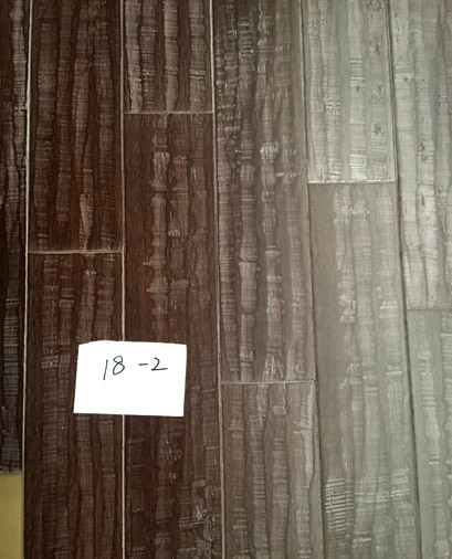 Distressed hand sculpting strand woven bamboo flooring